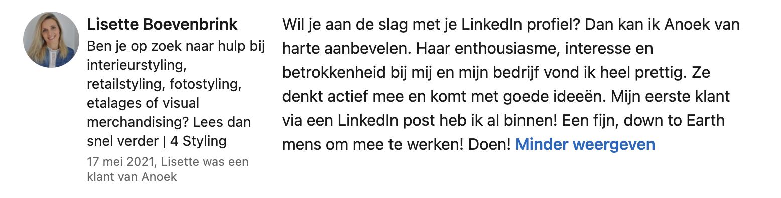 Testimonial Lisette Boevenbrink