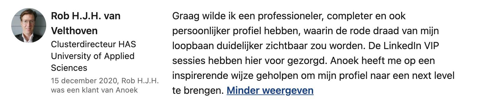 Testimonial Rob van Velthoven